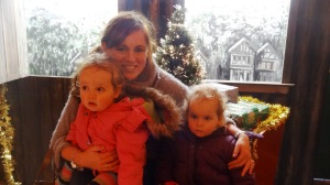 In Santa's sleigh!