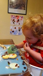 Er...eating the icing
